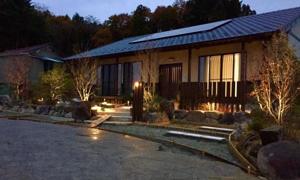 ガーデンライトを設置後の写真